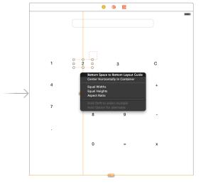 Contextual menu if ctrl+drag down