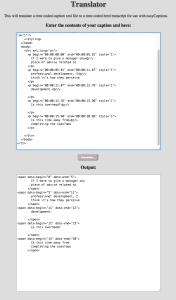 XML to HTML Caption Converter